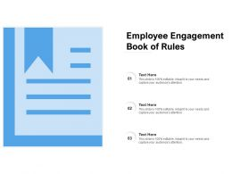 Employee Engagement Book Of Rules