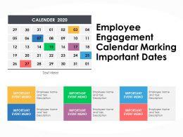 Employee Engagement Calendar Marking Important Dates