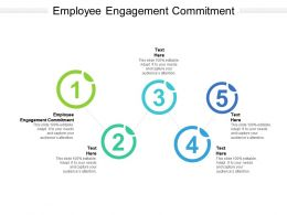 Employee Engagement Commitment Ppt Powerpoint Presentation Inspiration Tips Cpb