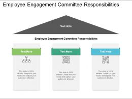 Employee Engagement Committee Responsibilities Ppt Maker Cpb