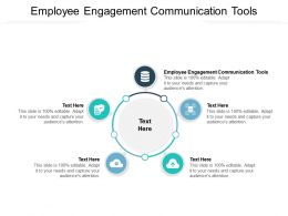 Employee Engagement Communication Tools Ppt Powerpoint Model Show Cpb