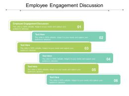 Employee Engagement Discussion Ppt Slides Graphics Template Cpb