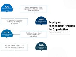 Employee Engagement Findings For Organization