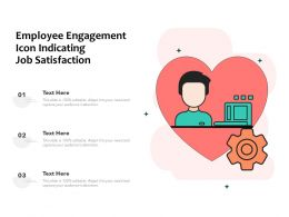 Employee Engagement Icon Indicating Job Satisfaction