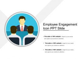 Employee Engagement Icon Ppt Slide