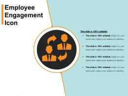Employee Engagement Icon Sample Ppt Presentation