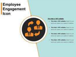 Employee Engagement Icon Sample Ppt Presentation