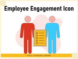 Employee Engagement Icon Statistics Indicating Targets Satisfaction Dashboard