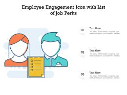 Employee Engagement Icon With List Of Job Perks