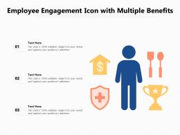 Employee Engagement Icon With Multiple Benefits