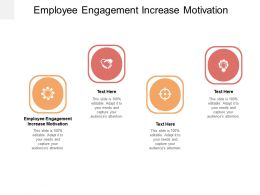 Employee Engagement Increase Motivation Ppt Powerpoint Presentation Infographics Professional Cpb