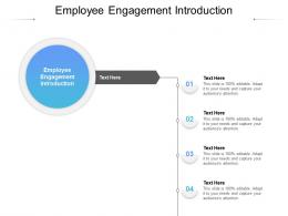 Employee Engagement Introduction Ppt Powerpoint Presentation Infographics Vector Cpb