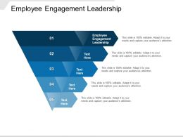 Employee Engagement Leadership Ppt Powerpoint Presentation File Graphics Cpb