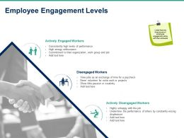 Employee Engagement Levels Ppt Powerpoint Presentation Infographic Template