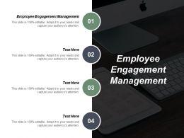 Employee Engagement Management Ppt Powerpoint Presentation Portfolio Visuals Cpb