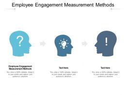 Employee Engagement Measurement Methods Ppt Powerpoint Gallery Portrait Cpb