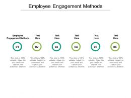 Employee Engagement Methods Ppt Powerpoint Presentation Summary Cpb