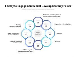 Employee Engagement Model Development Key Points