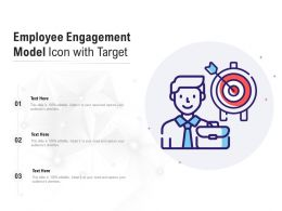 Employee Engagement Model Icon With Target