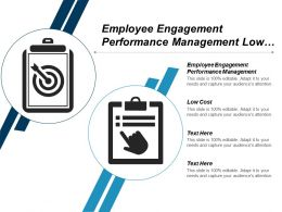 Employee Engagement Performance Management Low Cost Customer Value Cpb