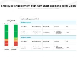 Employee Engagement Plan With Short And Long Term Goals