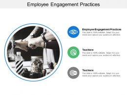 Employee Engagement Practices Ppt Powerpoint Presentation Professional Show Cpb