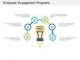 Employee Engagement Programs Ppt Powerpoint Presentation Portfolio Information Cpb
