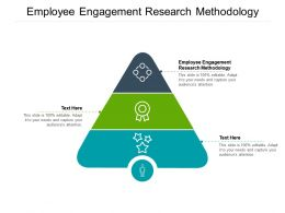 Employee Engagement Research Methodology Ppt Powerpoint Presentation Summary Cpb