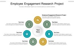 Employee Engagement Research Project Ppt Powerpoint Presentation Professional Graphics Cpb