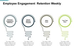 Employee Engagement Retention Weekly Meeting Template Sales Cycle Cpb