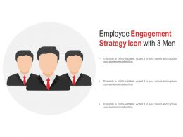 Employee Engagement Strategy Icon With 3 Men