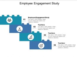 Employee Engagement Study Ppt Powerpoint Presentation File Brochure Cpb