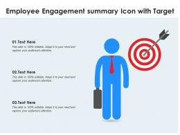 Employee Engagement Summary Icon With Target
