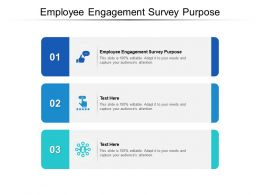 Employee Engagement Survey Purpose Ppt Powerpoint Presentation Icon Visual Cpb