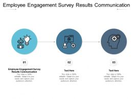 Employee Engagement Survey Results Communication Ppt Gallery Graphics Template Cpb