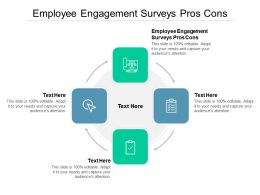 Employee Engagement Surveys Pros Cons Ppt Powerpoint Presentation Summary Model Cpb