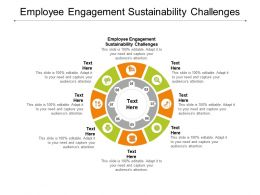 Employee Engagement Sustainability Challenges Ppt Powerpoint Presentation Layouts Guide Cpb