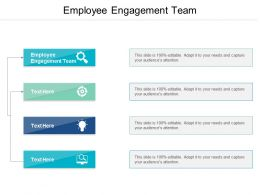Employee Engagement Team Ppt Powerpoint Presentation Gallery Summary Cpb