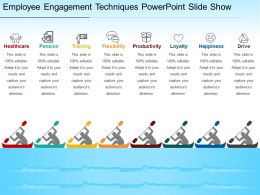 Employee Engagement Techniques Powerpoint Slide Show