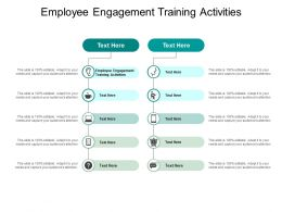 Employee Engagement Training Activities Ppt Powerpoint Presentation Styles Templates Cpb