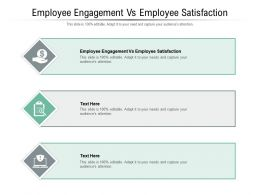 Employee Engagement Vs Employee Satisfaction Ppt Powerpoint Presentation Model Outline Cpb