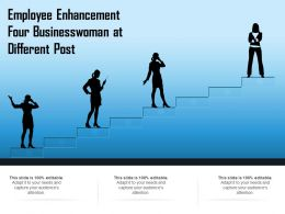Employee Enhancement Four Businesswoman At Different Post