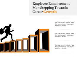 Employee Enhancement Man Stepping Towards Career Growth