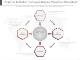 Employee Evaluation Techniques Diagram Powerpoint Slide Clipart