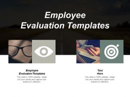 Employee Evaluation Templates Ppt Powerpoint Presentation Portfolio Ideas Cpb