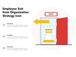 Employee Exit From Organization Strategy Icon