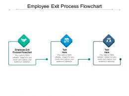 Employee Exit Process Flowchart Ppt Powerpoint Presentation Model Graphics Example Cpb