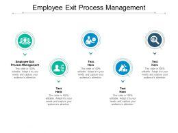 Employee Exit Process Management Ppt Powerpoint Presentation Slides Design Templates Cpb