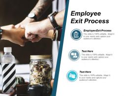 Employee Exit Process Ppt Powerpoint Presentation Infographics Summary Cpb
