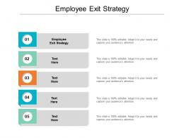 Employee Exit Strategy Ppt Powerpoint Presentation Layouts Icon Cpb